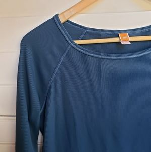 Lucy Blue Long Sleeve Top